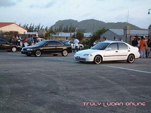 Honda dengan Dwi Surbo milik Roswag George ketika berlawan di St Lucia