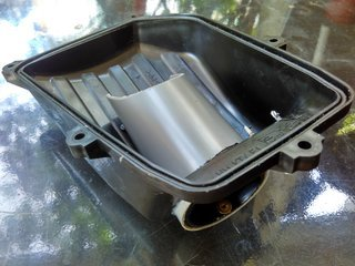 Surbo fitted in air filter cover of Honda CBR 150