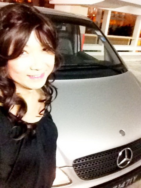 Miss Lin Lin, who drives the Mercedes Vito 111 with Twin Surbo