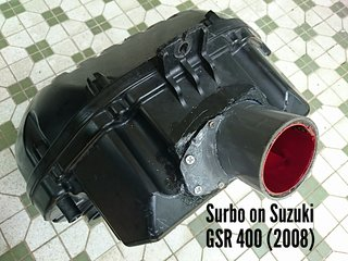 Photo: Surbo on air filter box of 2008 Suzuki GSR 400